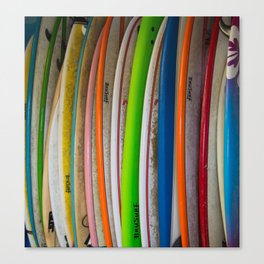 Surfboards For Rent Canvas Print