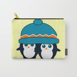 When two cute penguins find a beanie Carry-All Pouch