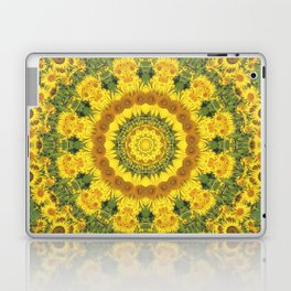 Sunflowers, Floral mandala-style, Flower Mandala Laptop & iPad Skin