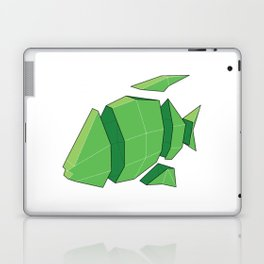 Illustration of a 3D Paper Craft Fish Model Laptop & iPad Skin