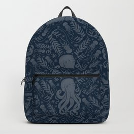 Octopus Squiggly King Of The Sea Pattern Backpack