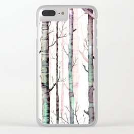 Birch Tree Forest Clear iPhone Case