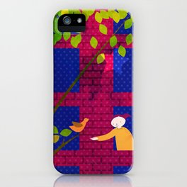 Talking to the birds iPhone Case