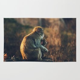 Macaque Motherly Love Rug