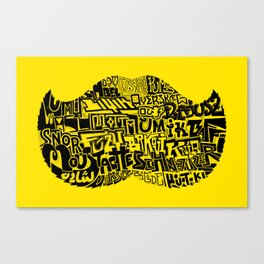 22 Staches Canvas Print
