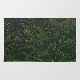 Apple Tree With Red Ripe Apples Rug
