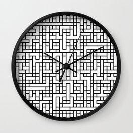 Black pattern light Wall Clock
