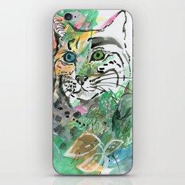 Blue Green Jungle Cat iPhone Skin