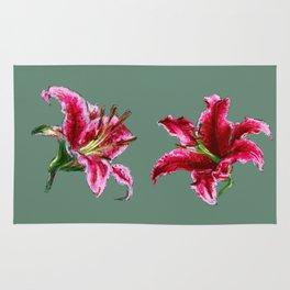 twin lilies Rug