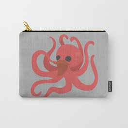 Octobeard Grey Carry-All Pouch