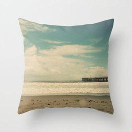 Cayucos Boardwalk Throw Pillow