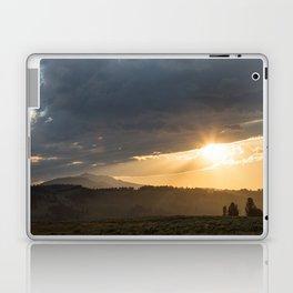 Yellowstone National Park - Sunset, Blacktail Deer Plateau Laptop & iPad Skin