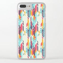 Geometri pattern Clear iPhone Case