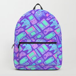Video Game Controllers in Cool Colors Backpack