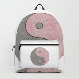 Yin Yang Esoteric Symbol Pastel Pink And Grey Backpack