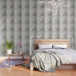 Lavender & Silver Wallpaper