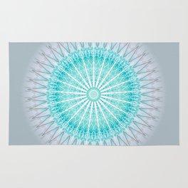 Turquoise Boho Mandala Rug