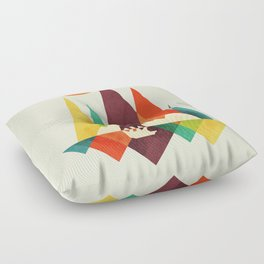Bear In Whimsical Wild Floor Pillow