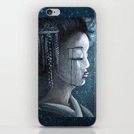 Geisha in Snow: The Stoic Concubine iPhone Skin