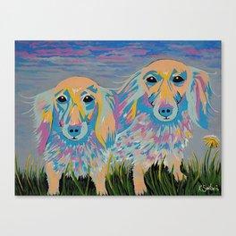 Mugi and Tatami - Dogs Canvas Print