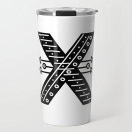 LETTER 'X' IMELA PRINT Travel Mug