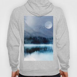Mountainscape Under The Moonlight Hoody