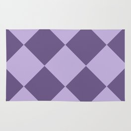 Lavenders and Diamonds Rug