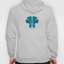 Blue and Black Aztec Twins Mask Illusion Hoody