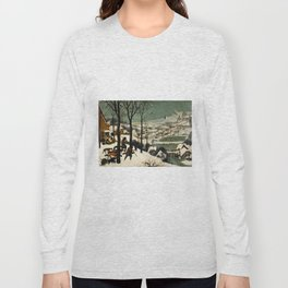 The Hunters in the Snow, Pieter Bruegel the Elder Long Sleeve T-shirt