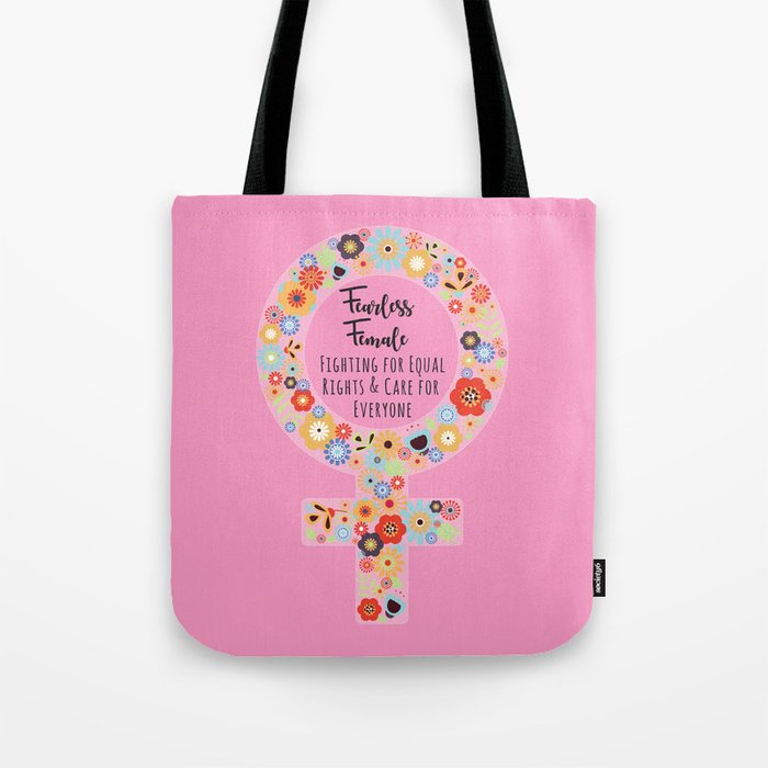 Fearless Female Pink Tote Bag