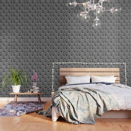 Pop-Art Black And White Eyes Pattern Wallpaper
