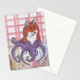 Foxtapus (purple) Stationery Cards