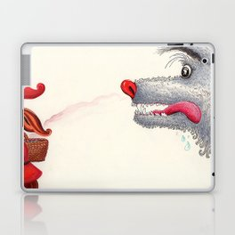 The wolf and the Little Red Riding Hood Laptop & iPad Skin