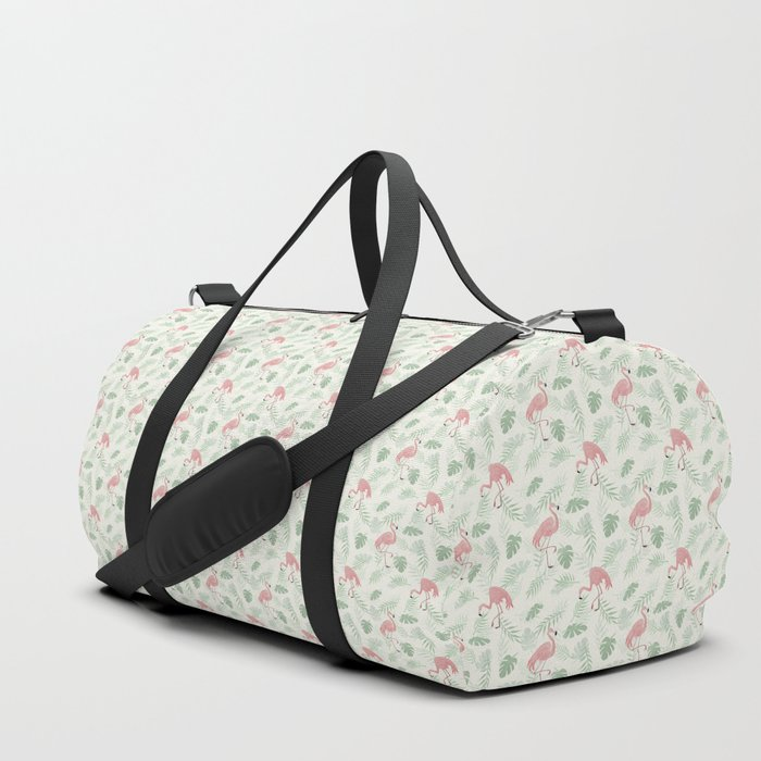 Flamingo Love Tropical Duffle Bag