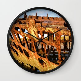The Wreck of the Peter Iredale Wall Clock