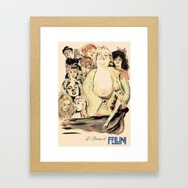 Le Donne di Fellini Framed Art Print