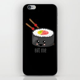 Eat Me in black iPhone Skin