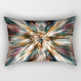 Earth Tones Tie Dye Rectangular Pillow