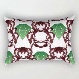 Emeralds & Demons [WHITE] Rectangular Pillow