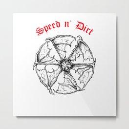 Speed and Dirt Black Metal Print