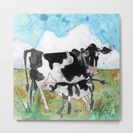 Cow Mommy Metal Print