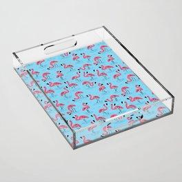 Flamingos Acrylic Tray