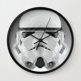 Polygon Stormtrooper Wall Clock