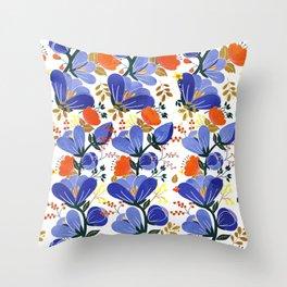 folk spring flowers no2 Throw Pillow