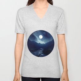 Walk to the Moon Unisex V-Neck
