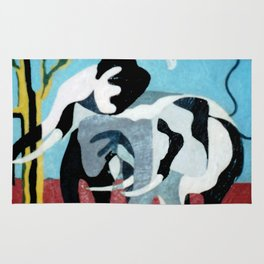 African Abstract         by Kay Lipton Rug