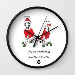 Santa Paws & Mrs. Paws Wall Clock