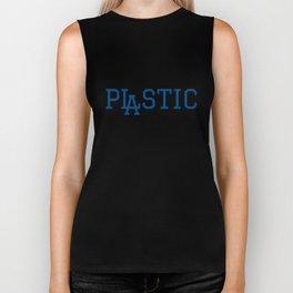 LA Plastic Typography Biker Tank