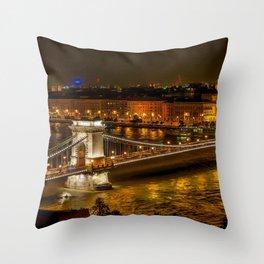 Budapest | Szechenyi Chain Bridge Throw Pillow