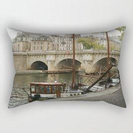 Ships at Dock Rectangular Pillow